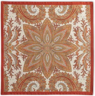 Maison d' Hermine Kashmir Paisley 100% Cotton Set of 4 Napkins 20 Inch by 20 Inch. Perfect for Thanksgiving and Christmas