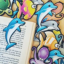 "AQUATIC BOOKMARK Assortment""Clip over the page"" (4 designs-10 each-Total 40) Bulk Bookmarks for Kids girl's boy's teens. Perfect for Gifts, Student Incentives, Reading Incentives, Awards!"