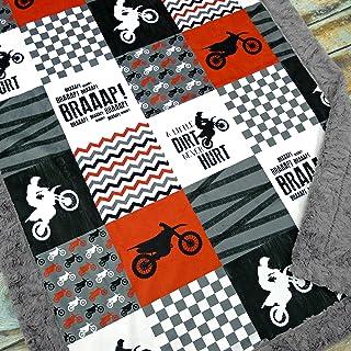 Motocross Baby Blanket - Dirt Bike Baby Blanket - Minky Baby Blanket - Unisex Baby Blanket - Motorcycle Blanket - Baby Blanket - Nursery Decor - Crib Bedding - Minky Baby Blanket