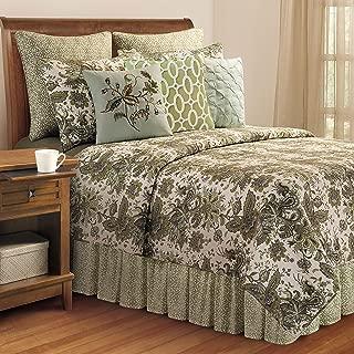 C&F Home Ezmeralda 3 Piece Quilt Set All-Season Reversible Bedspread Oversized Bedding Coverlet, King Size, Green