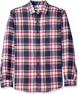 red and blue plaid flannel shirt