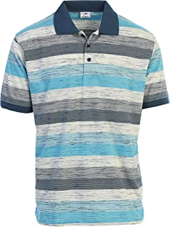 Gioberti Mens Regular Fit Striped Short Sleeve Polo Shirt