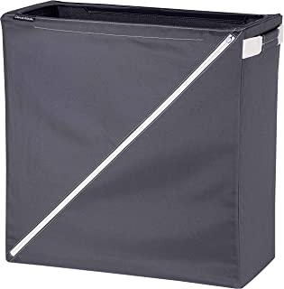 CleverMade Laundry Hamper Collapsible Sorter Basket - Freestanding Foldable Tall Clothes Storage Bin with Premium Handles for Kids Room, Nursery, Bathroom, Bedroom, and Closet; Charcoal