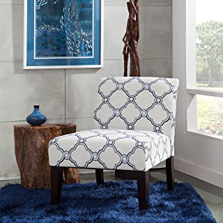 Carver Slipper Chair, One Size, Blue and Beige