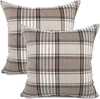 Amazon Com Decorative Pillows Inserts Covers Plaid Decorative Pillows Inserts Cov Home Kitchen