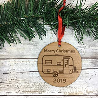 Large Egg Camper 2019 Merry Christmas Ornament