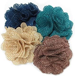 Ovee Lando Burlap Flowers Fabric Decoration Weddings Hair DIY 12 pcs