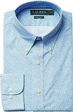 LAUREN Ralph Lauren - Classic Fit Non Iron Poplin Floral Print Button Down Collar Dress Shirt