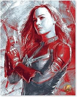 Artissimo Designs Marvel's Avengers Captain Marvel: Ready for Action Grunge Printed Canvas