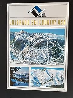 Vintage 1960's Vail Colorado Ski Country Lift Maps Poster Hal Shelton