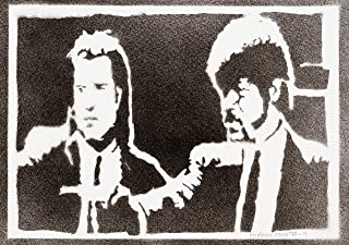 Poster Pulp Fiction Handmade Graffiti Street Art - Artwork