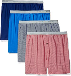 Fruit Of The Loom Men's 4-Pack Assorted Knit Boxer Extended Sizes Underwear (pack of 4)