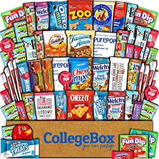 CollegeBox Care Package (60 Count) Snacks Food Cookies Granola Bar Chips Candy Ultimate Variety Gift Box Pack Assortment B...