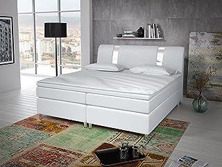 Wohnen-Luxus Berlin Type 1 Lit à sommier tapissier 180 x 200 cm avec lattes chromées