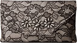 Jessica McClintock - Riley Lace Envelope Clutch with Brooch