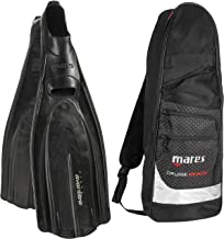 Mares Italian Design Avanti Tre Full Foot Fin with Cruise Snorkel Gear Bag, 42-BK