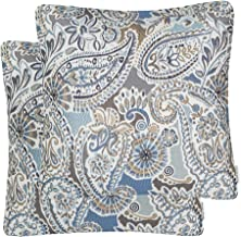 Mika Home Pack of 2 Decorative Accent Throw Pillow Cover Sham Cushion Case,Paisley..