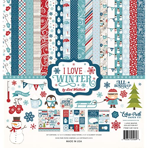 """New A Winter/'s Night 12/"""" x 12/"""" Paper Pad By Recollections Christmas Dark Teal"""