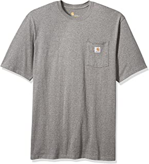 6484256b57aa4 Carhartt Men s Big   Tall K87 Workwear Pocket Short Sleeve T Shirt