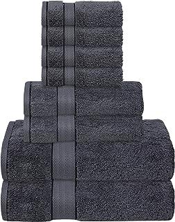 GLAMBURG 700 GSM Premium Cotton 8-Piece Towel Set - 100% Combed Cotton - Luxury Hotel & Spa Quality - Durable Ultra Soft H...