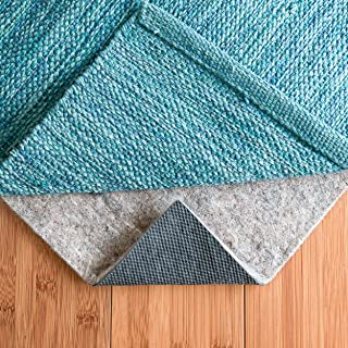 RUGPADUSA, 6' x 9', 1/4'' Thick, Basics Felt + Rubber Non Slip Rug Pad, Softens Rugs and Prevents Slipping, Won't Mark or Stain Floor Finishes