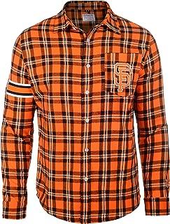 FOCO MLB Men's Wordmak Basic Flannel Shirt