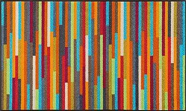 wash+dry Mikado Stripes Doormat 75 x 120 cm Washable Indoor and Outdoor Use Multi-Coloured