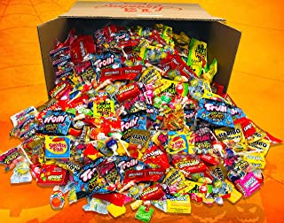 HUGE FUN MIX ASSORTED Variety BULK Individually Wrapped Candies Net Weight 12 LBS ( 192 oz) Skittles, Haribo, Sour Patch Kids, Swedish Fish, Starburst, Lemondheads Chewy, Trolli, Now & Later
