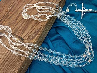 Crystal Wedding Lasso silver Plated Accents/Lazo De Boda Crystal Cortado/wedding laso/wedding rosary