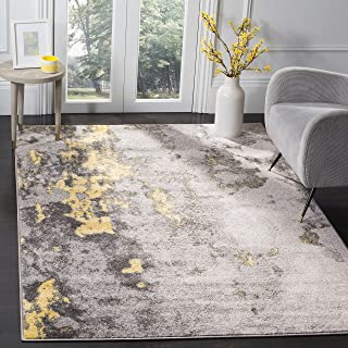 Safavieh Adirondack Collection ADR134H Grey and Yellow Modern Abstract Distressed Area Rug (8' x 10')