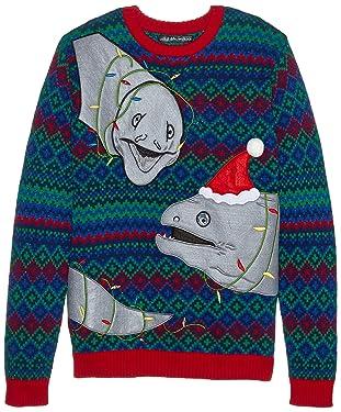 Blizzard Bay - Suéter navideño feo iluminado para hombre, Blizzard Bay suéter navideño feo para hombre, S