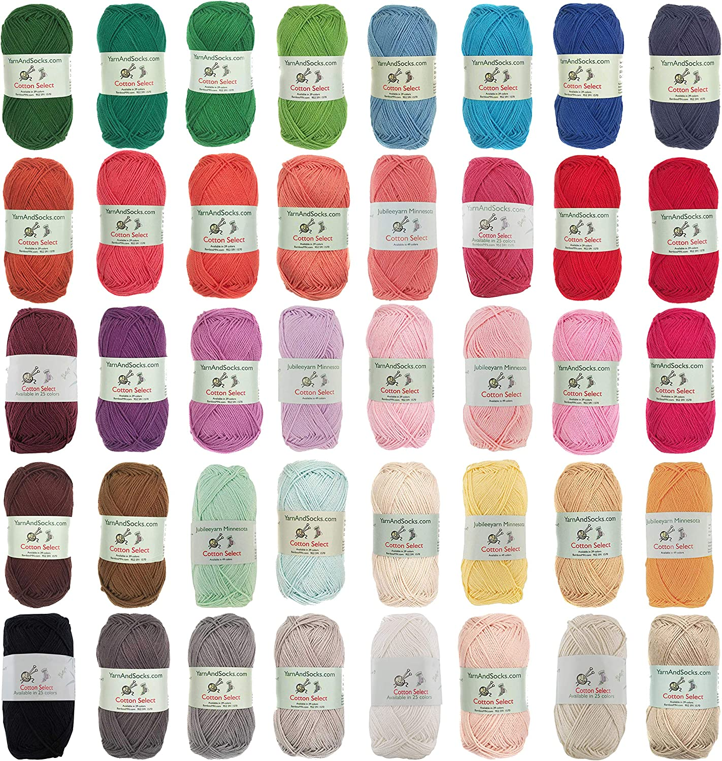 Cotton Select Sport Max 70% OFF Weight Yarn 40 Skeins 100% - Fine Limited price