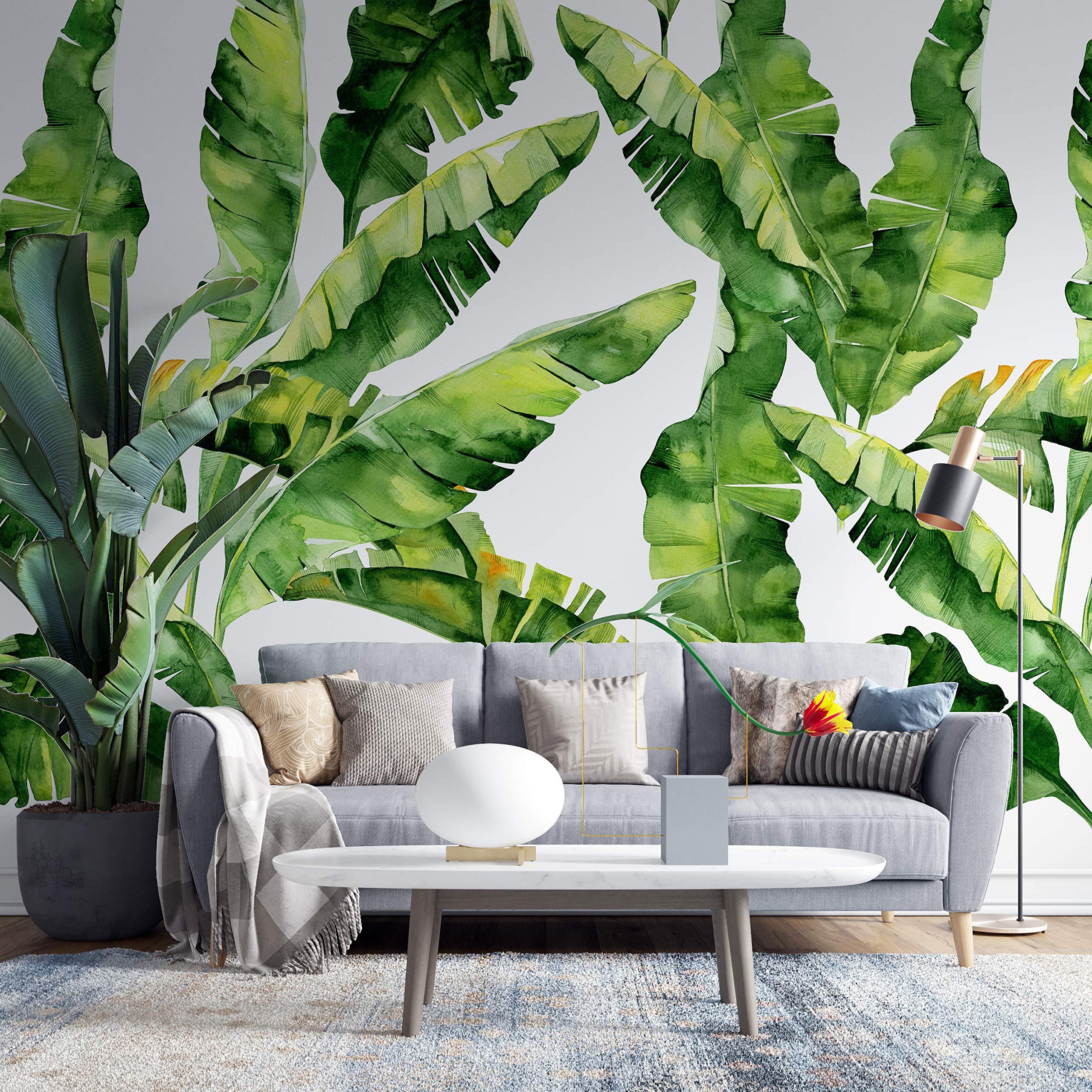 Amazon Co Jp Fleefilo はがせる壁紙 壁紙シール 厚手 植物バナナの葉 柄 壁 シール リメイクシート Diy Fl0845 Fl0845 45cm X 10m ホーム キッチン
