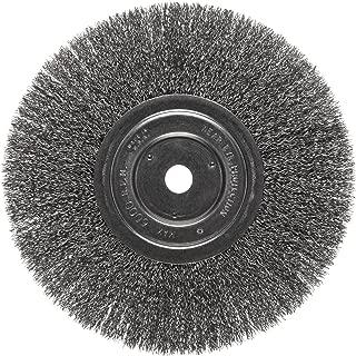 Weiler Vortec Pro Narrow Face Wire Wheel Brush, Round Hole, Carbon Steel, Crimped Wire, 8
