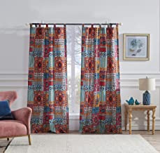 """Barefoot Bungalow Indie Window Curtain Set, 84"""", Spice"""
