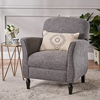 Christopher Knight Home 306438 Crew Traditional Tweed Armchair, Gray, Emerald