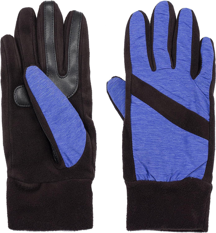 Isotoner Women's SmartDri Super Soft Nylon Fleece Pieced Glove