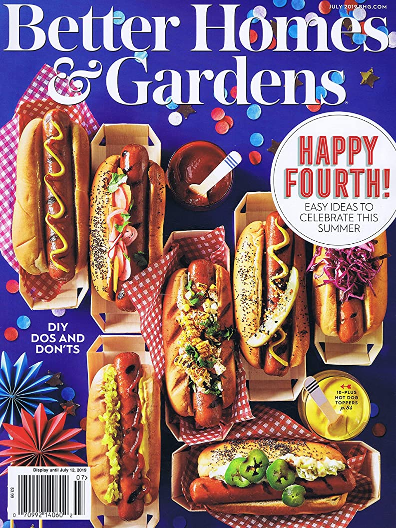 ミュート辞任真剣にBetter Homes and Gardens [US] July 2019 (単号)