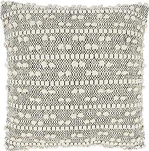 وسادة أريكة بتصميم مغربي من مجموعة كيما من سارو لايف ستايل مع حشوة من البوليستر، مقاس 45.72 سم × 45.72 سم، طبيعية