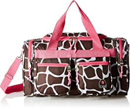 Rockland Luggage 19 Inch Tote Bag, Pink Giraffe, One Size