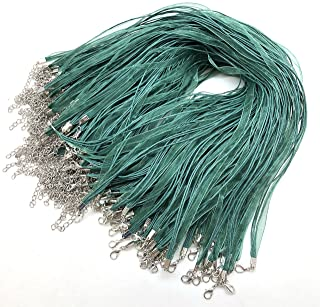 Multi Strands Necklace Cords Adjustable 16-18 Inch For Jewellery 20 Green Organza Ribbon Cotton Necklace Cords