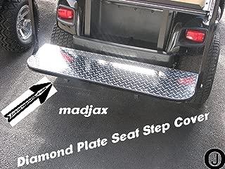 Madjax Model Golf Cart Diamond Plate Flip Seat Step Cover ezgo-club car-yamaha