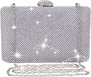 Clocolor Evening Bags and Clutches for Women Rhinestone Crystal Clutch Purse for Bridal Wedding Party