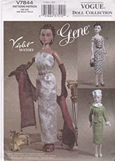 Doll Clothes Patterns Gene Doll Circa 1952-3 Clothing for Vintage Dolls by The Ashton Drake Galleries Vogue Craft Sewing Pattern 7844