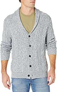 Men's Supersoft Shawl Collar Cable Knit Cardigan Sweater