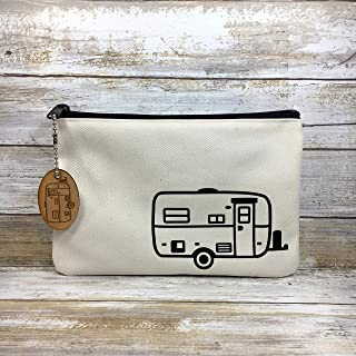 Large Egg Fiberglass Camper Cotton Gear Toiletry Bag with Matching Camper Key Chain