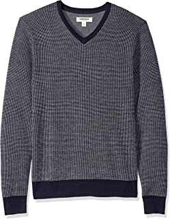 Goodthreads Men's Merino Wool V-Neck Birdseye Sweater