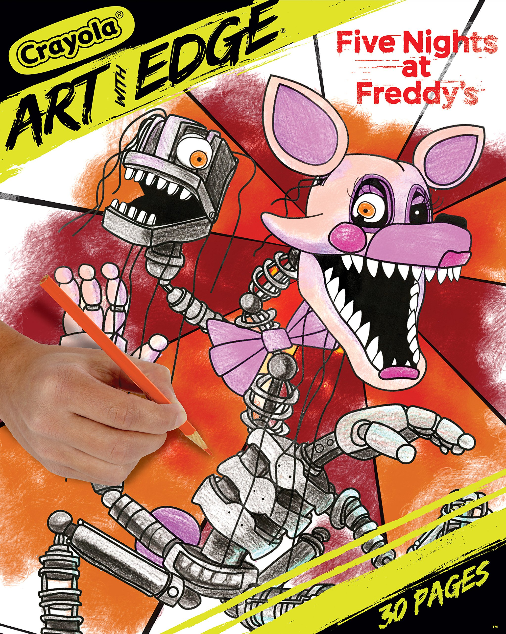 Crayola Five Nights at Freddy's Coloring Pages, Adult Coloring, 32 Count