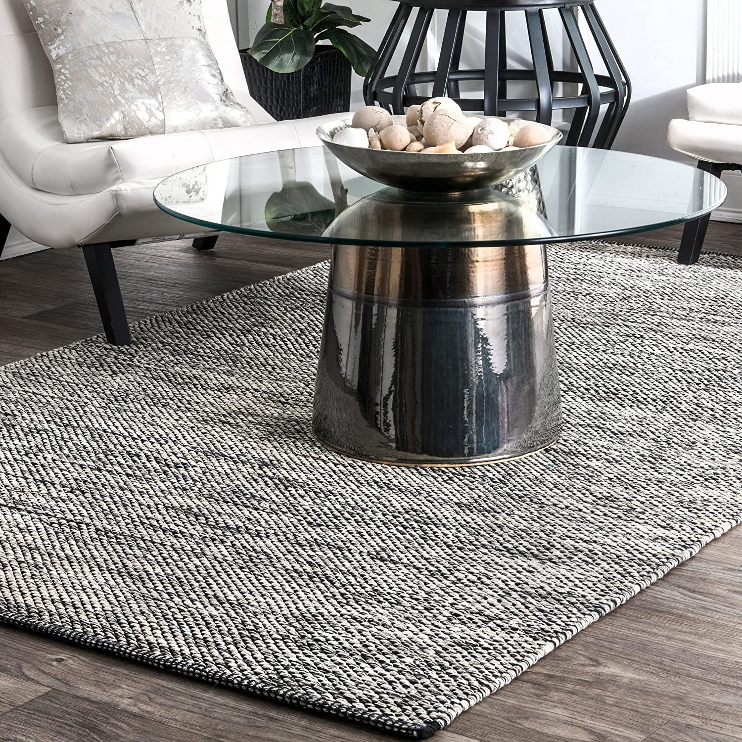 supreme nuLOOM Hand Woven Area Rug Grey Outlet SALE 5' x 3'
