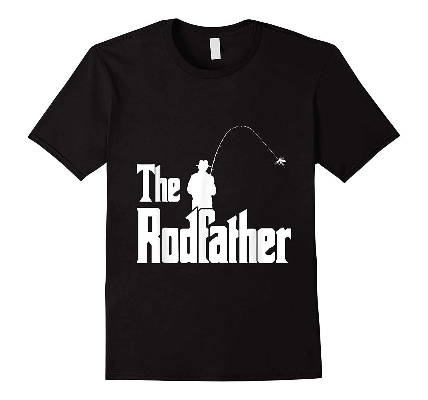 S The Rodfather Funny Fisherman T Shirt Sea, Fly Fishing Tee